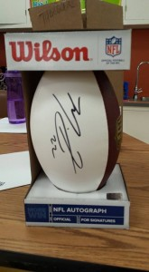 Football signed by the Bears' Matt Forte