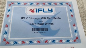 Gift certificate to iFly